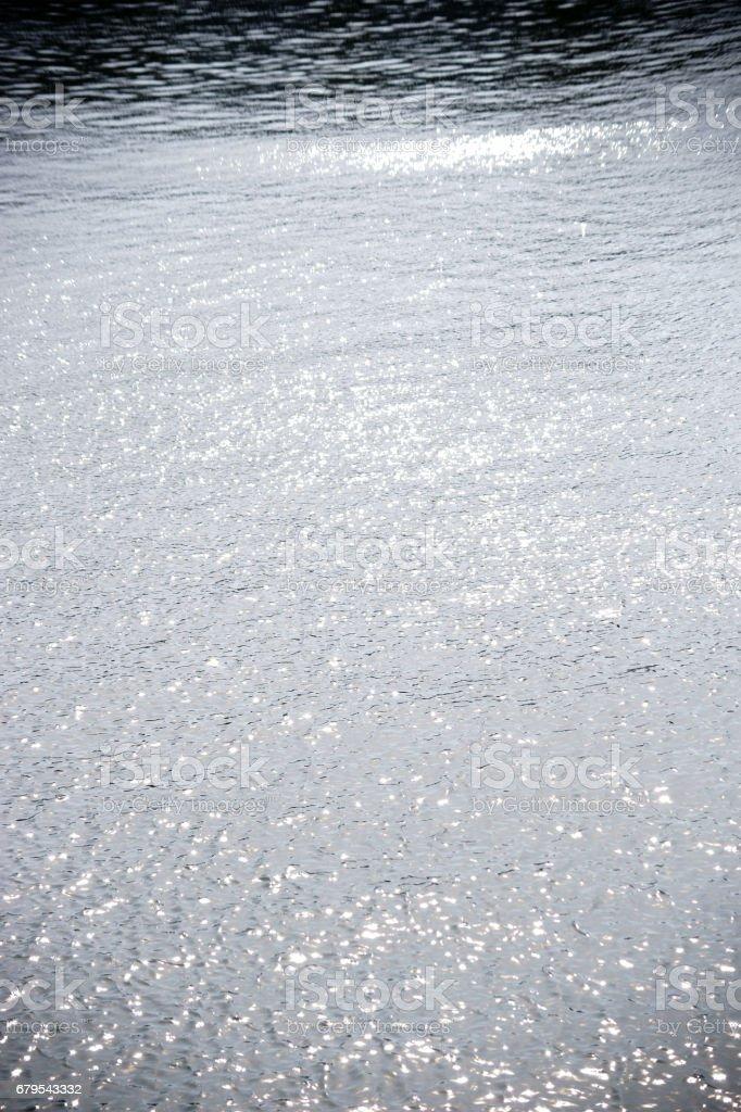 Glistening water surface stock photo