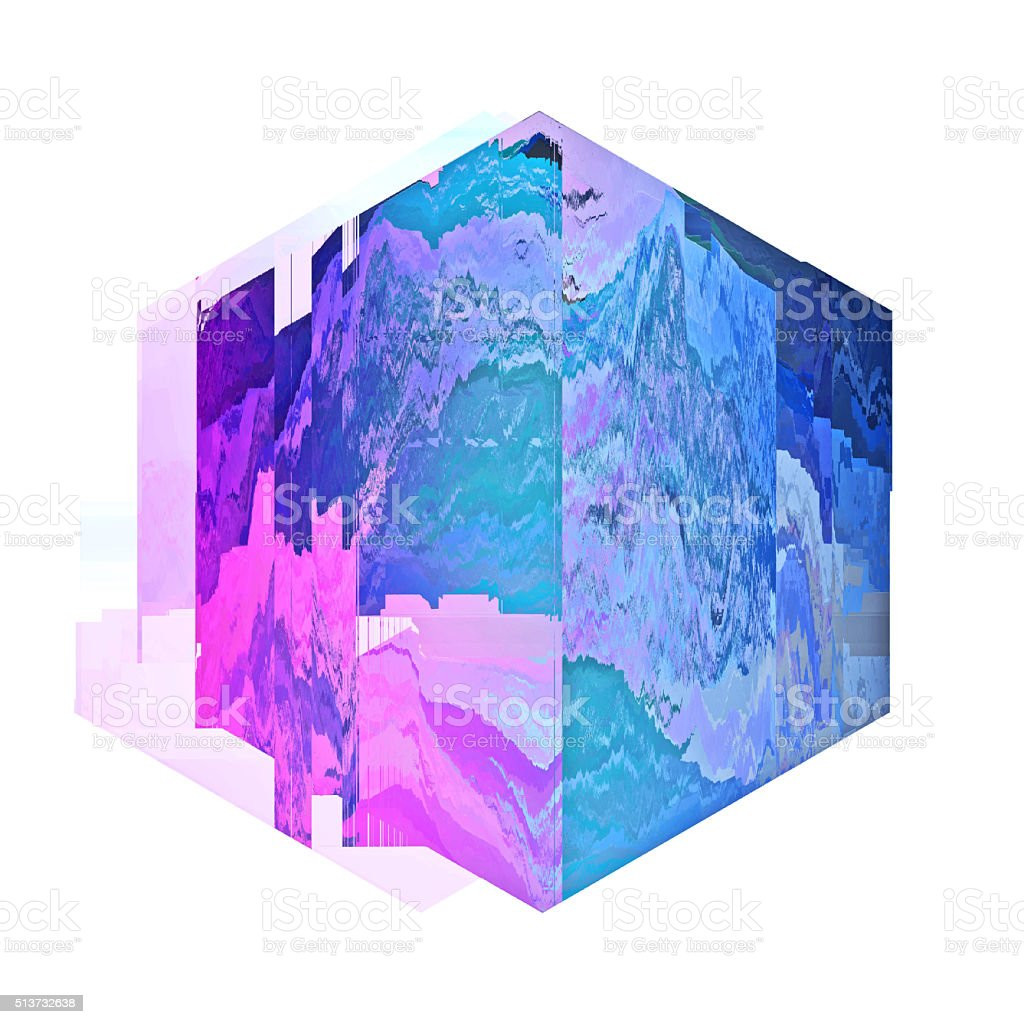 Glitch Art Abstract Digital Graphic Element stock photo
