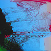 Glitch Art Abstract Digital Graphic Element