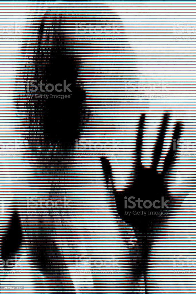 Glitch portrait stock photo