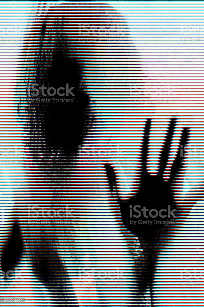 Glitch portrait stock photo