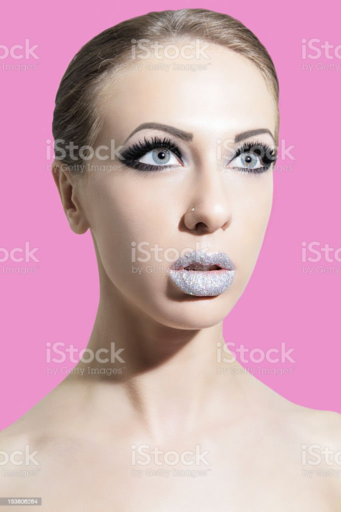 Glitter and Lashes royalty-free stock photo