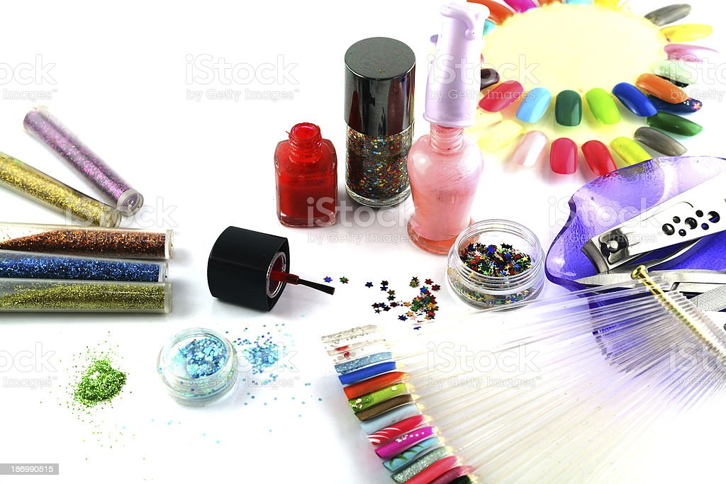Glitter for nail polish royalty-free stock photo