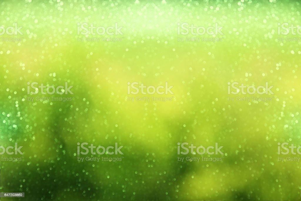 glitter green vintage lights background. defocused stock photo