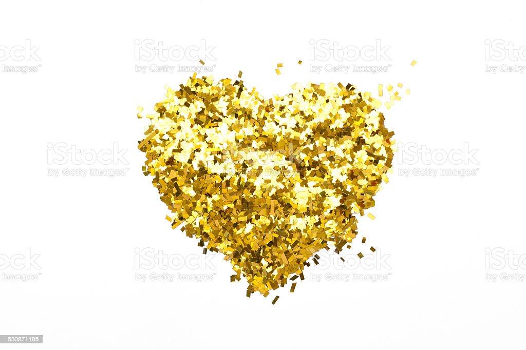 Glitter Heart stock photo