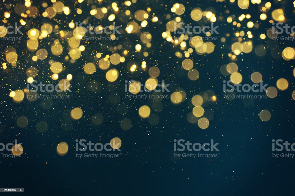 glitter lights background. defocused. stock photo