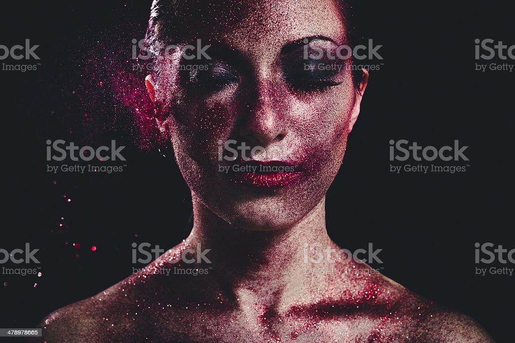 Glitter Make-up. Beauty Fashion stock photo