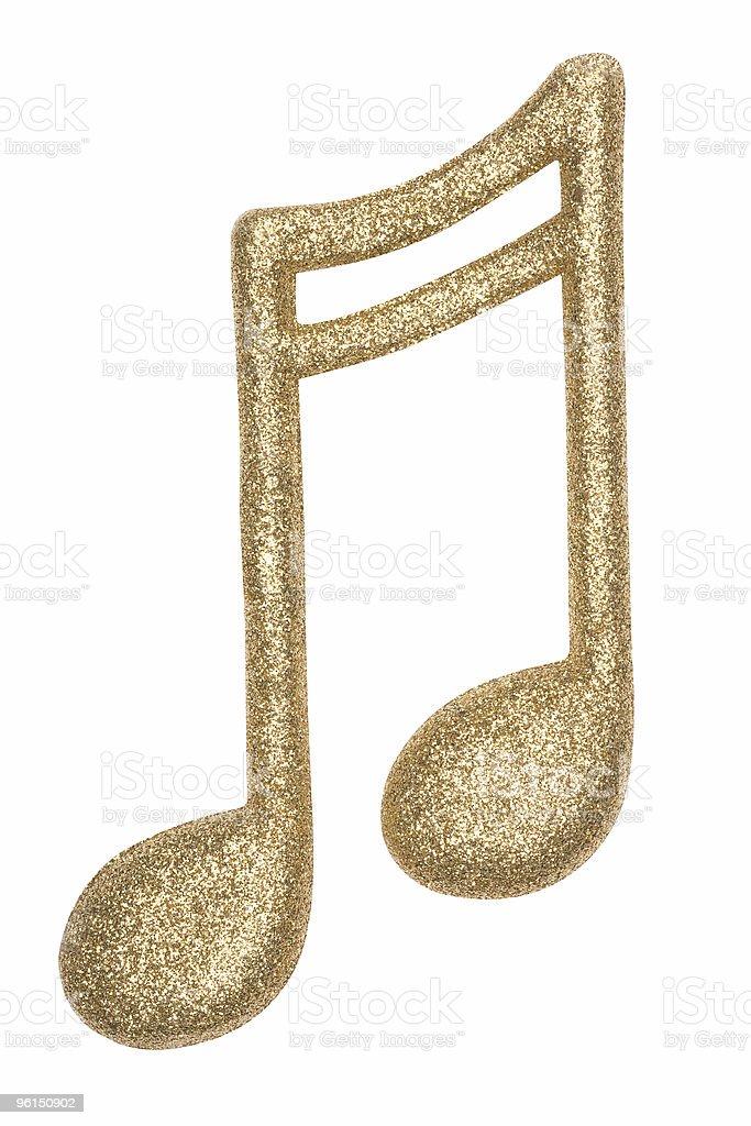 Glitter Music Note 1 royalty-free stock photo