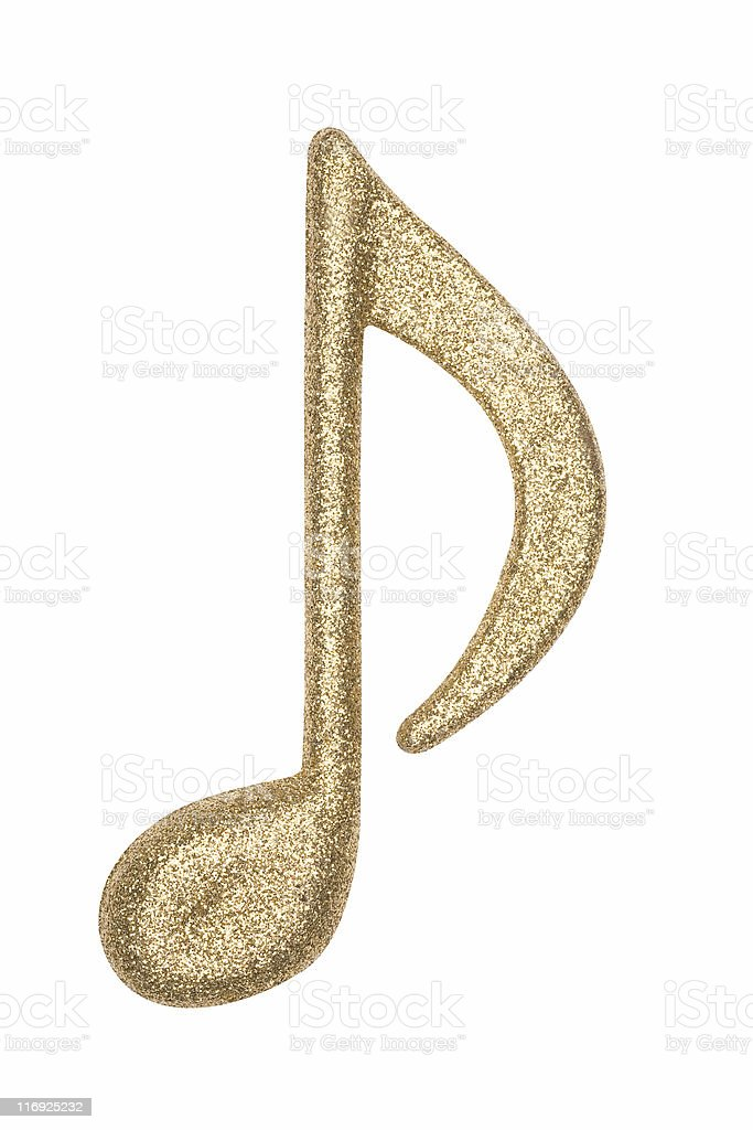 Glitter Music Note 3 stock photo