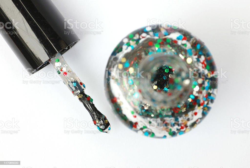 glitter nail polish royalty-free stock photo