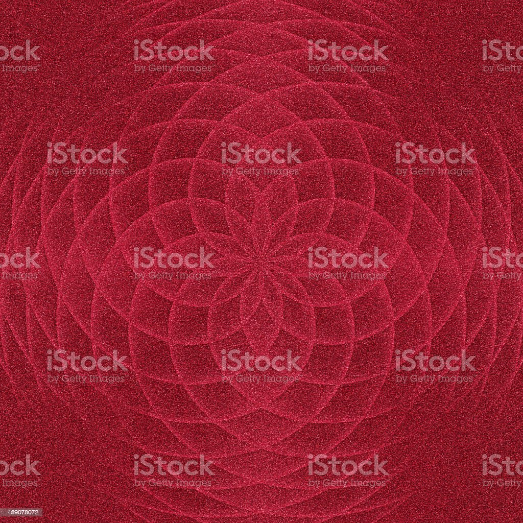 Glitter paper with digitally generated floral pattern stock photo