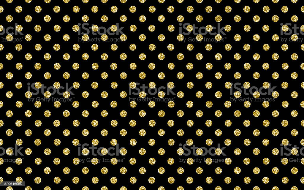 Glitter polka dot pattern stock photo