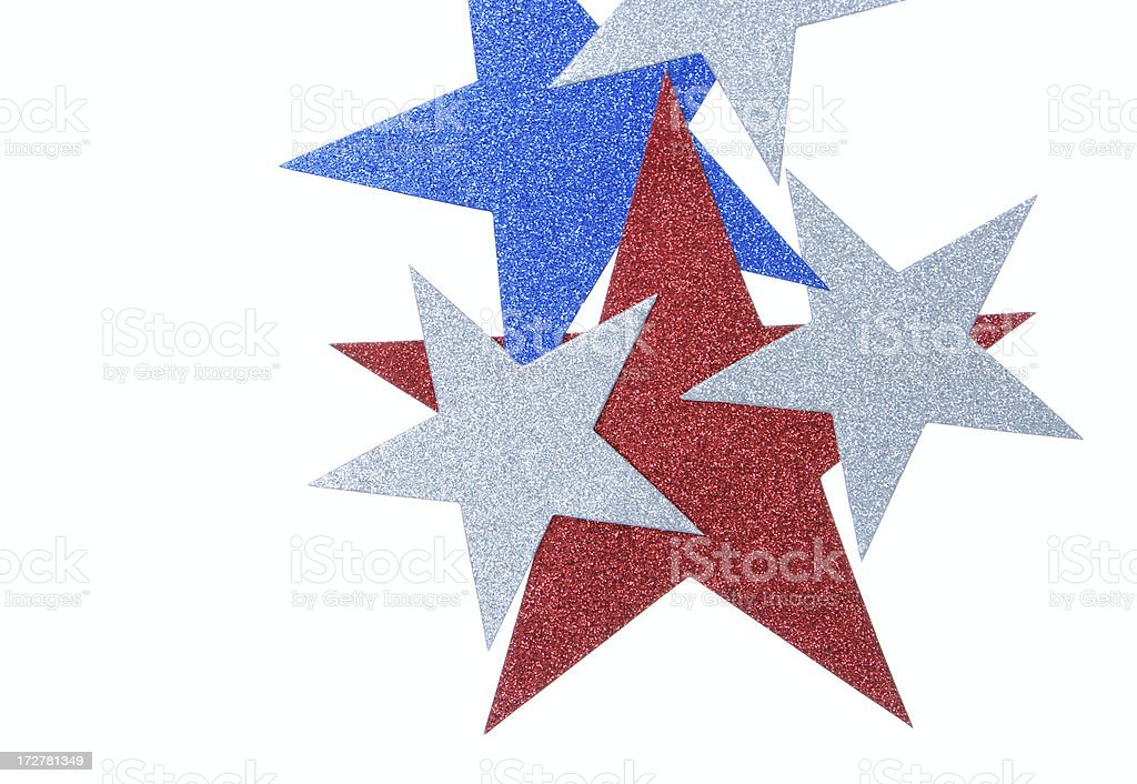 Glitter Stars Border (copy space) royalty-free stock photo