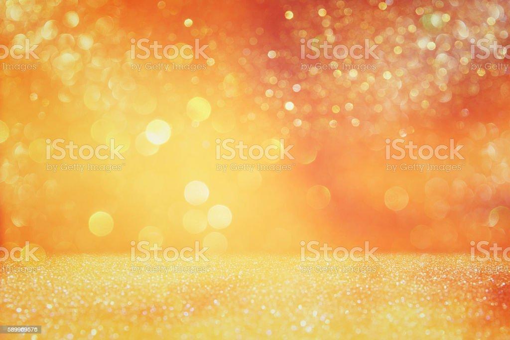 glitter vintage lights background. defocused. stock photo