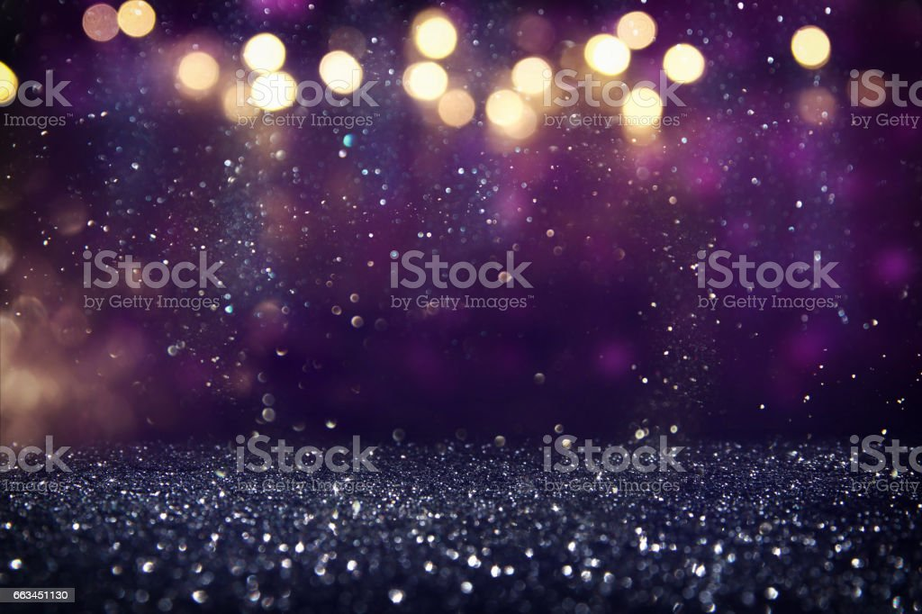 glitter vintage lights background. de-focused stock photo