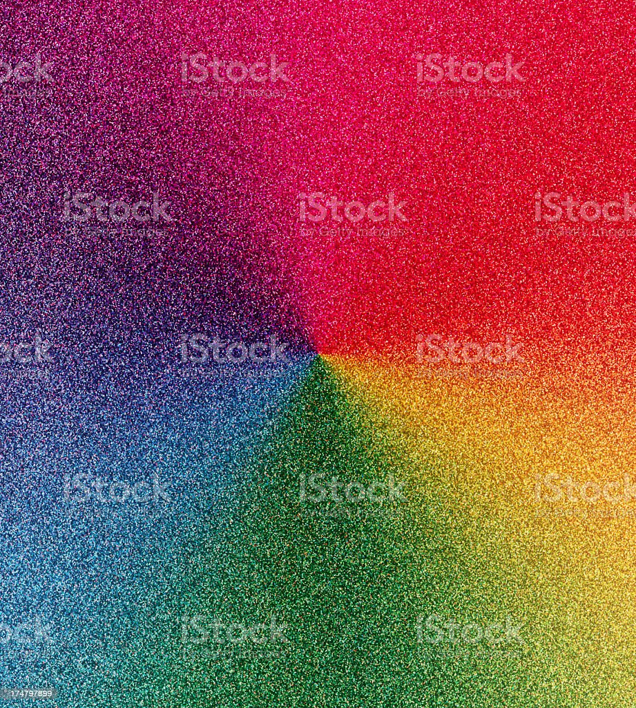 glitter with full spectrum color wheel royalty-free stock photo