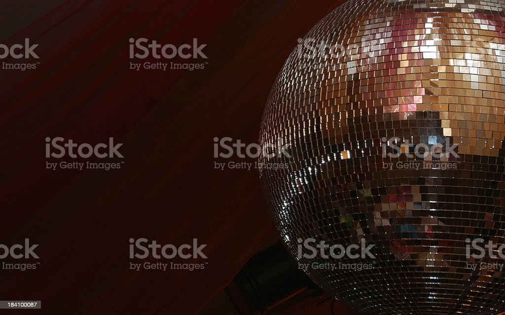 Disco glitterball stock photo