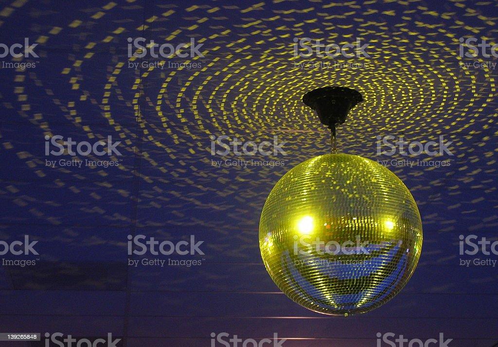 Glitterball-yellow stock photo