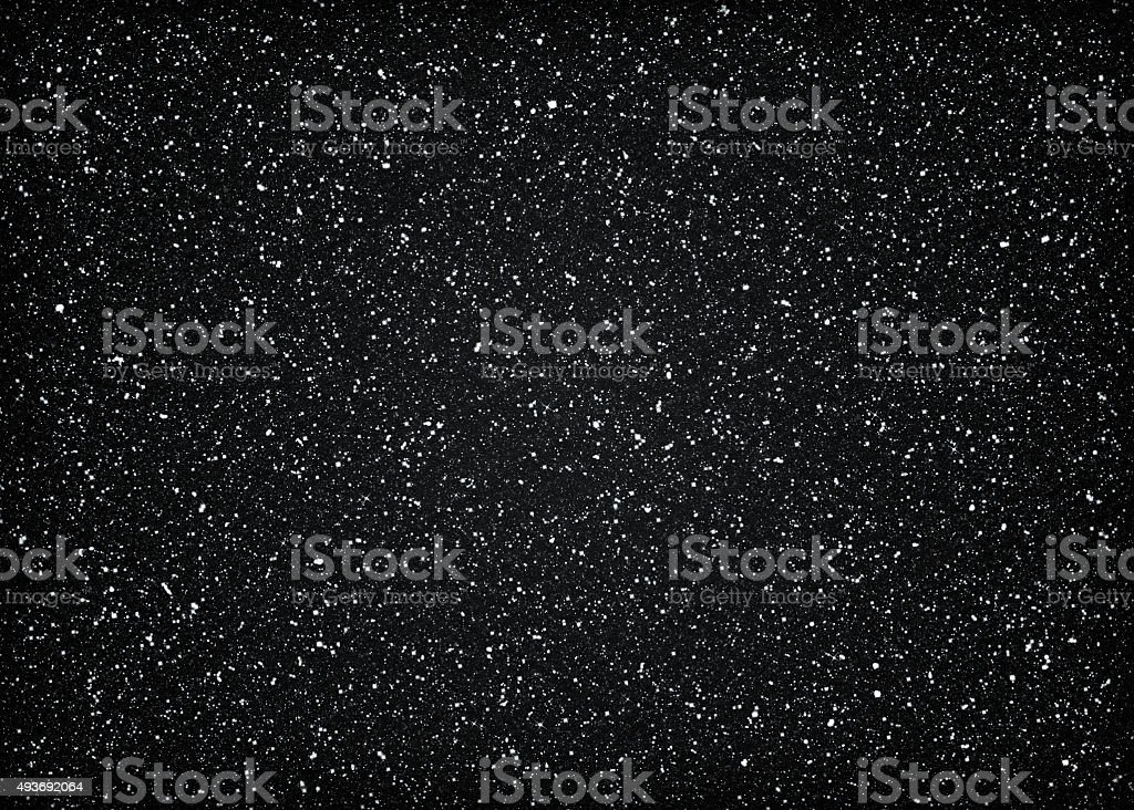Glittering dark starry cosmic space stock photo