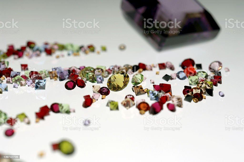 Glittering gemstones stock photo
