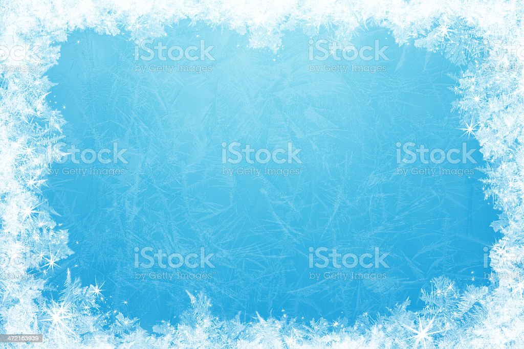 Glittering ice frame stock photo