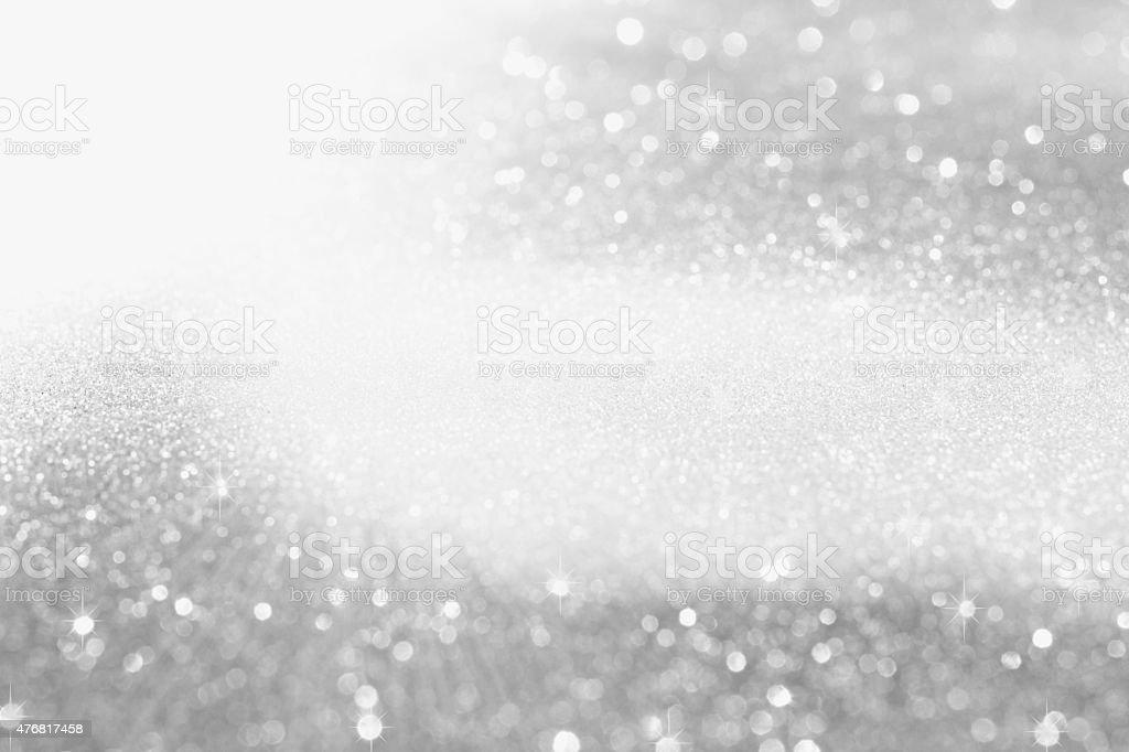 Glittering silver background stock photo