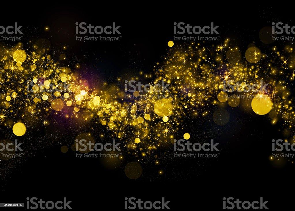 Glittering star dust field bokeh stock photo