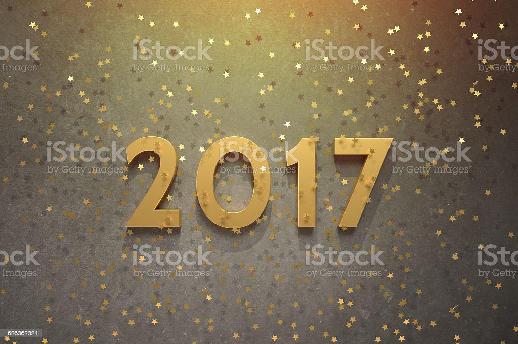 Glittery 2017 stock photo