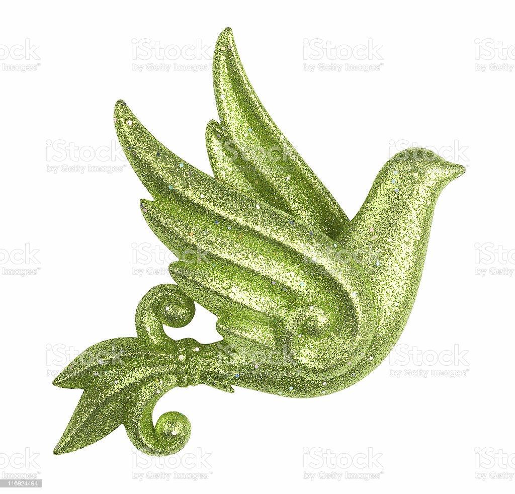 Glittery Bird Ornament royalty-free stock photo