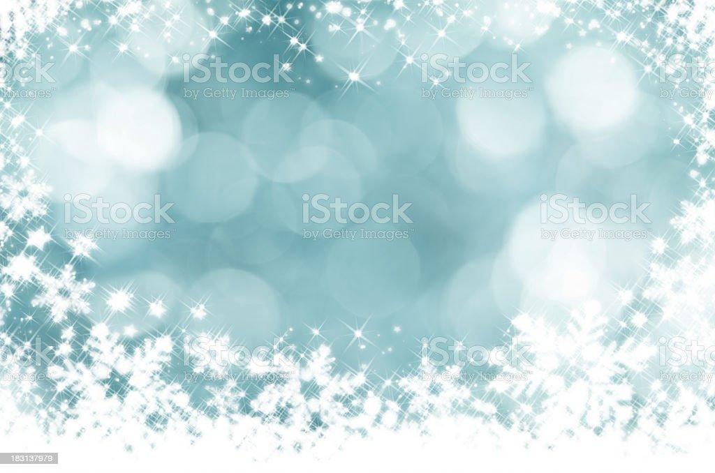 Glittery blue and white snowflake background royalty-free stock photo