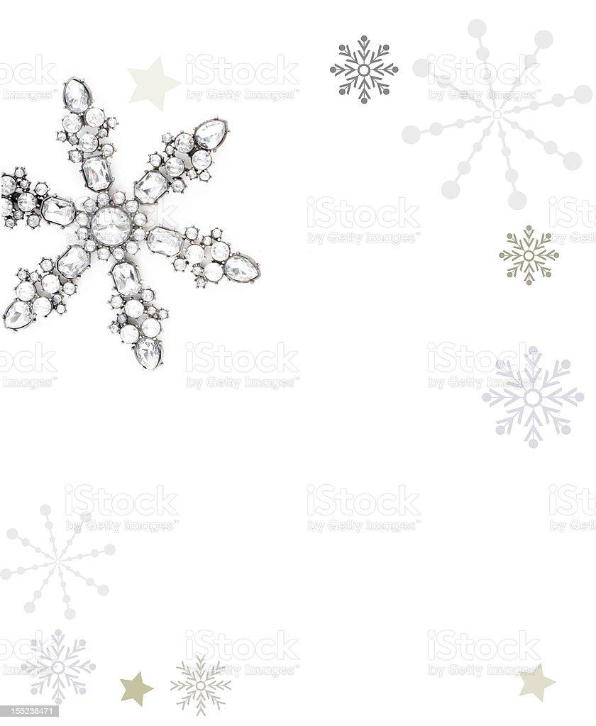 glittery christmas card royalty-free stock photo