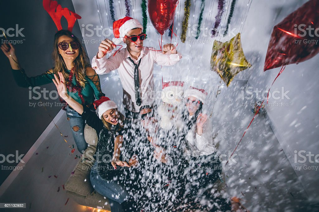 Glittery New Year Party! stock photo
