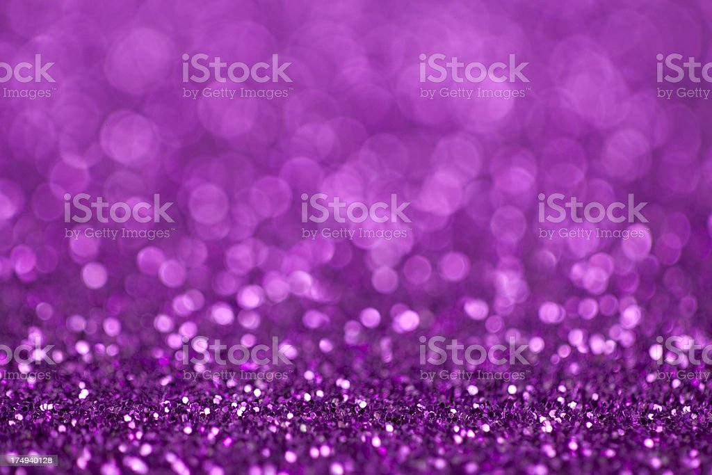 Glittery purple background with copy space stock photo