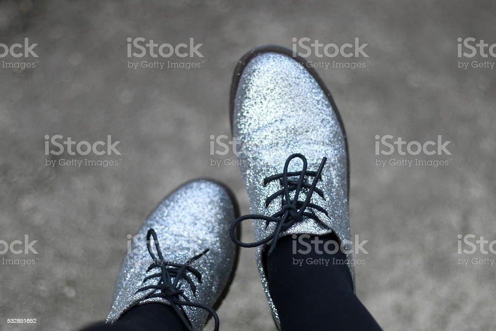 Glittery Shoes stock photo