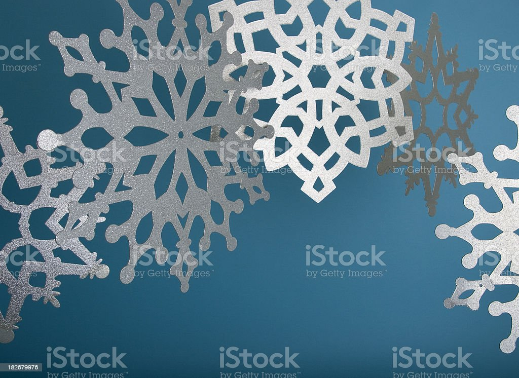 Glittery Snowflakes royalty-free stock photo