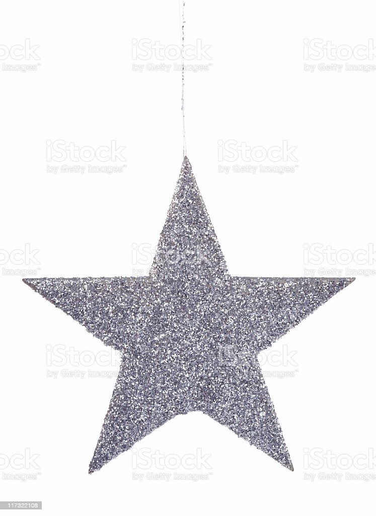 Glittery star ornament royalty-free stock photo