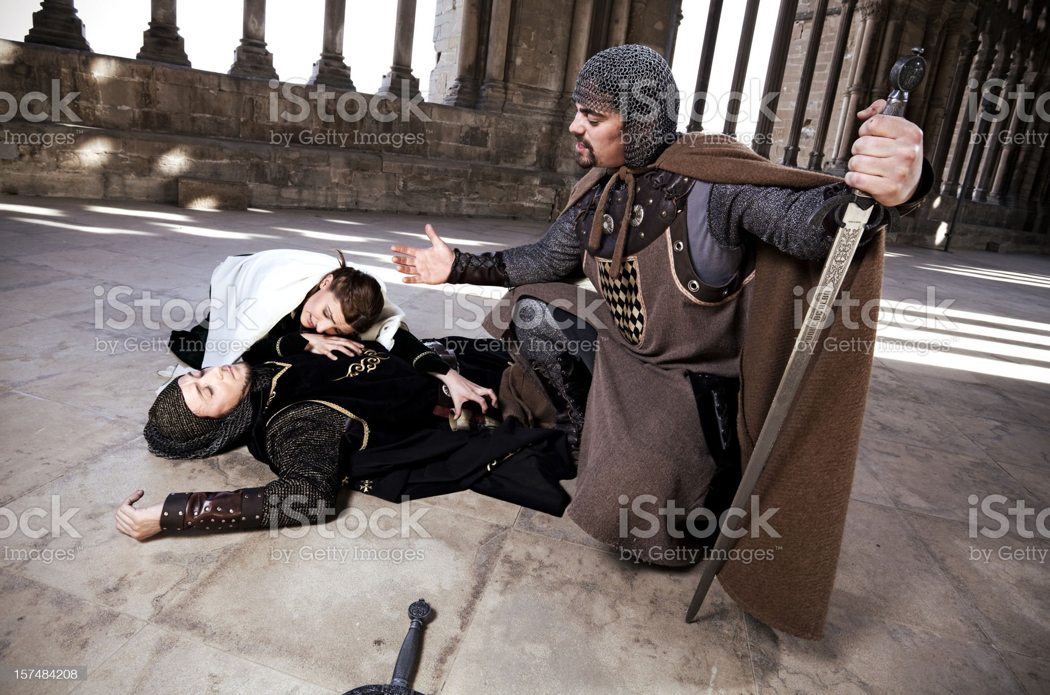 Gloating knight royalty-free stock photo