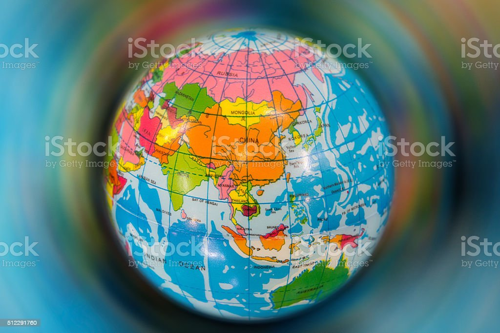 global ball toy stock photo