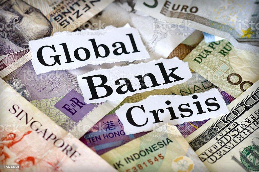 Global Bank Crisis royalty-free stock photo