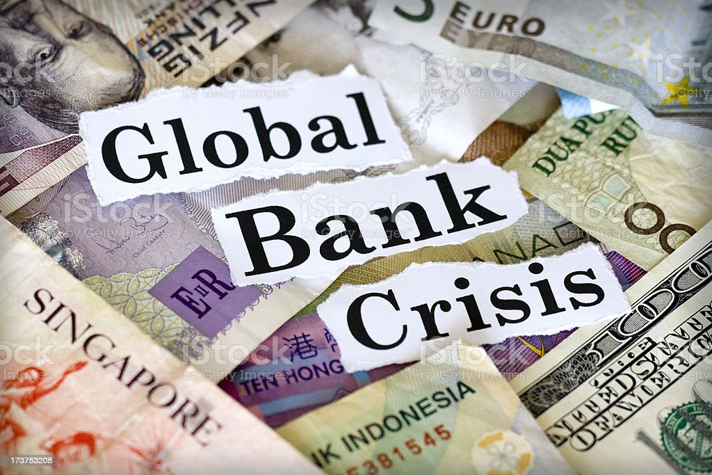 Global Bank Crisis stock photo