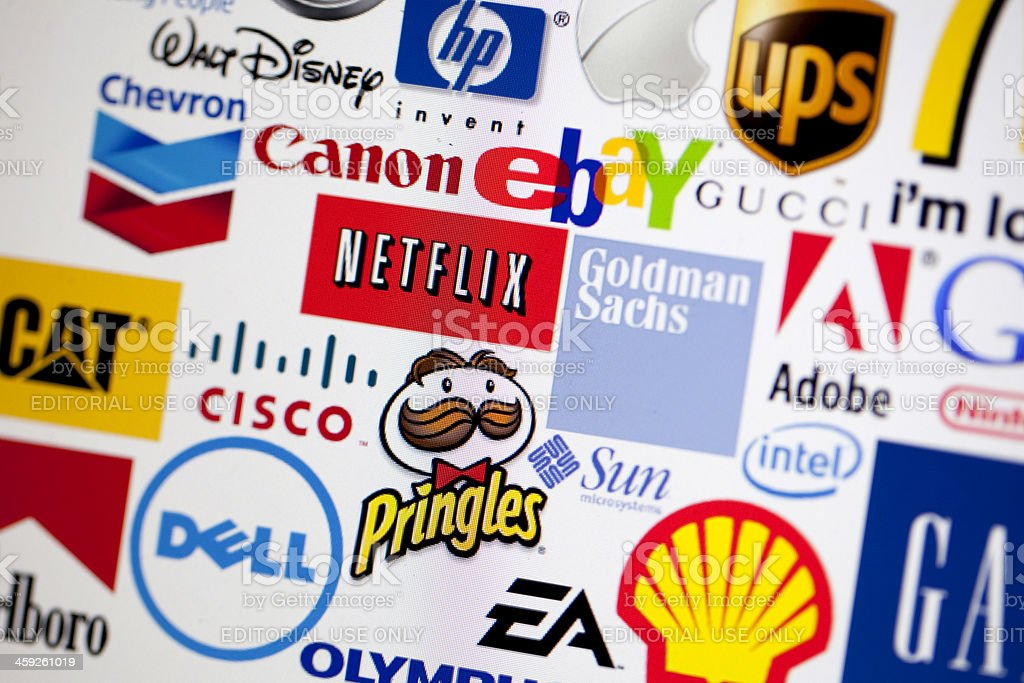 Global brands background stock photo