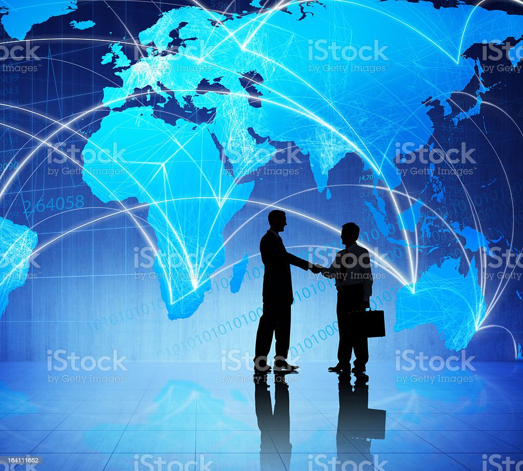 Global business agreement royalty-free stock photo