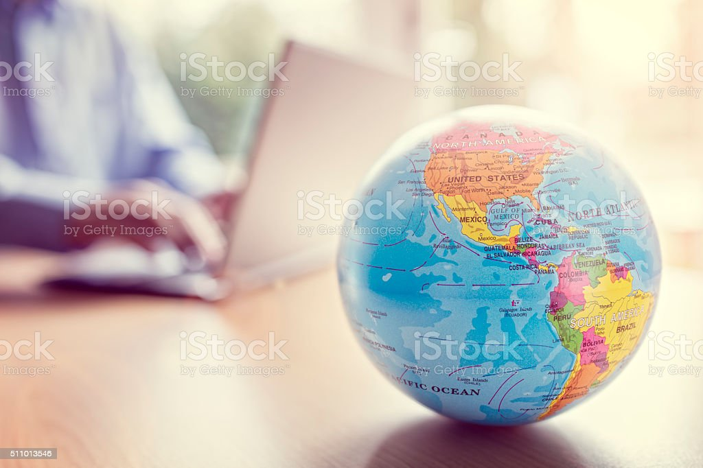 Global business and communications stock photo