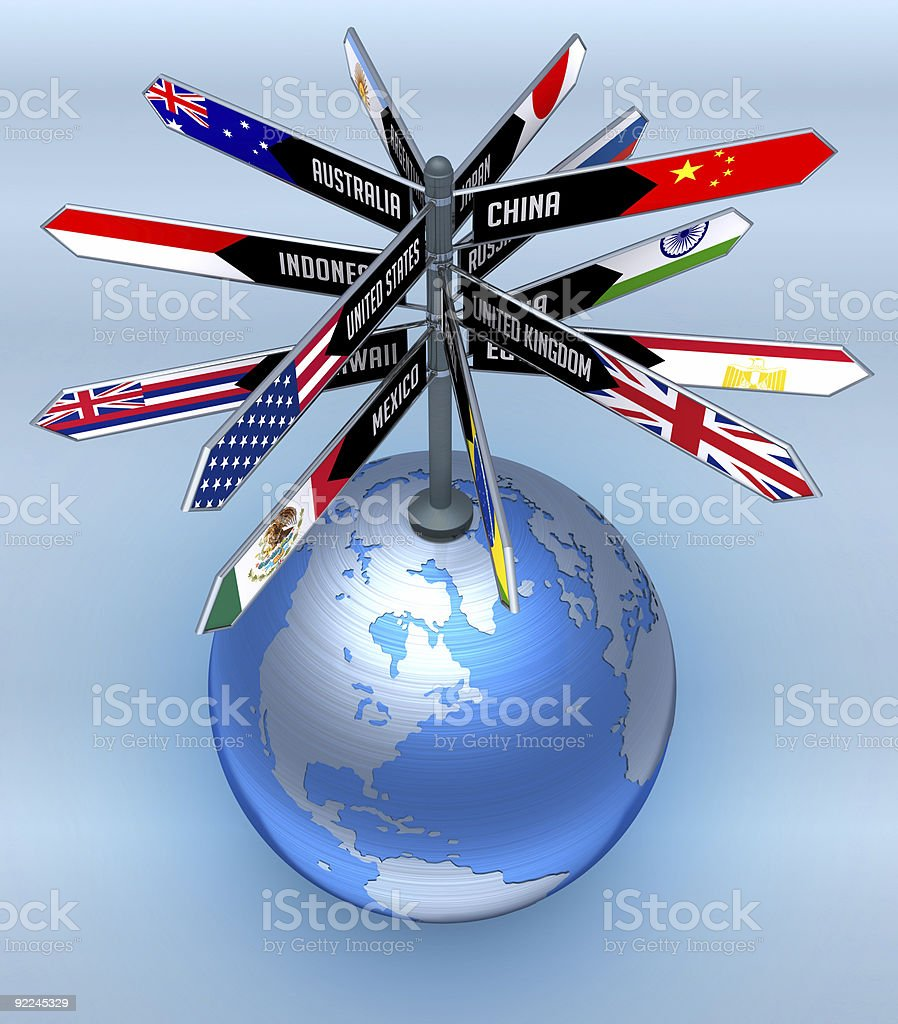 Global Business and Tourism royalty-free stock photo