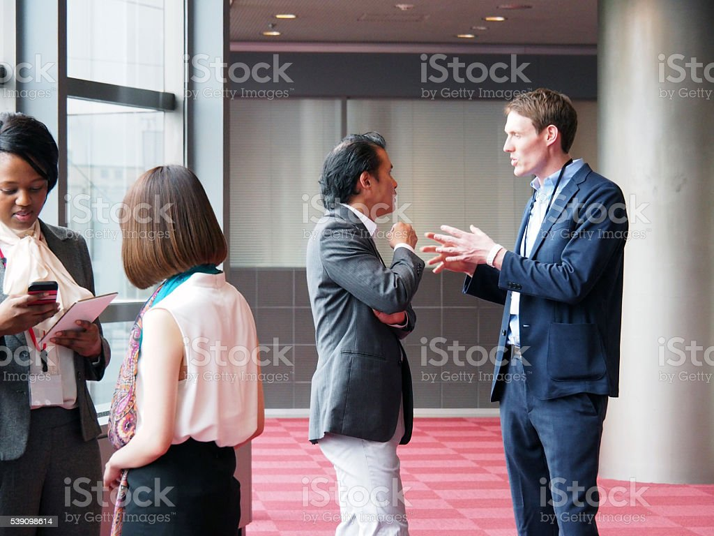 Global Business, Arguing stock photo