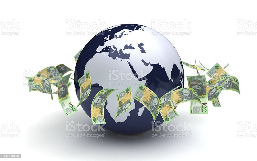 Global Business Australian Currency royalty-free stock photo