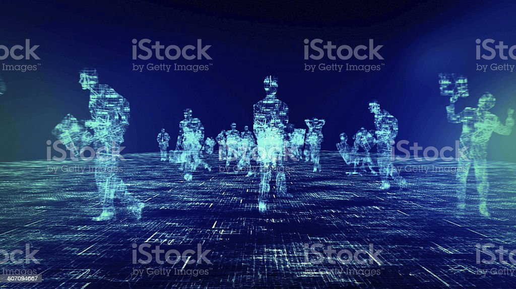Global business, big data stock photo