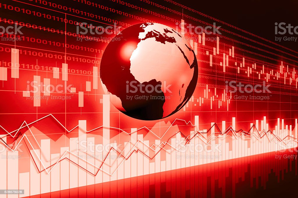 Global business chart stock photo