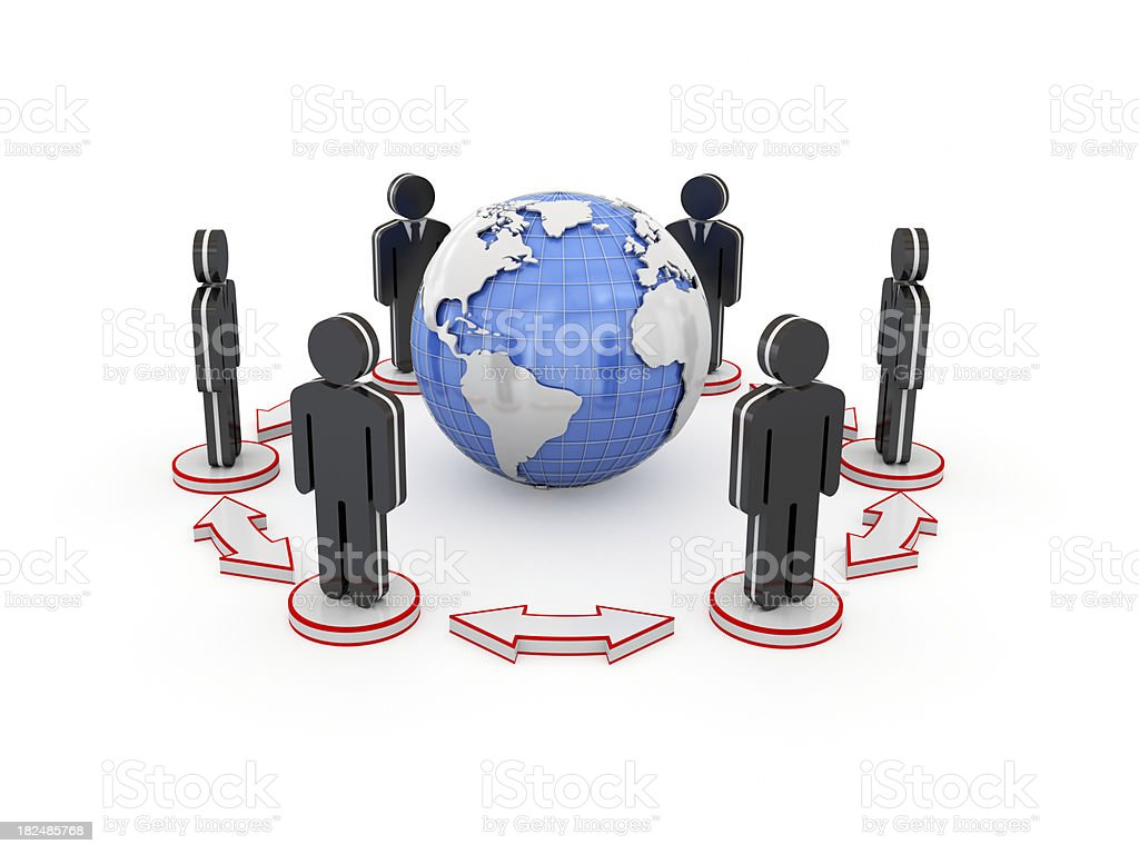 Global business communication concept. royalty-free stock photo