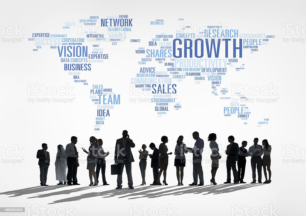 Global Business Communications stock photo